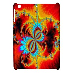 Crazy Mandelbrot Fractal Red Yellow Turquoise Apple Ipad Mini Hardshell Case