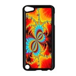 Crazy Mandelbrot Fractal Red Yellow Turquoise Apple iPod Touch 5 Case (Black) Front