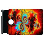 Crazy Mandelbrot Fractal Red Yellow Turquoise Apple iPad 2 Flip 360 Case Front