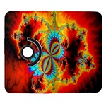 Crazy Mandelbrot Fractal Red Yellow Turquoise Samsung Galaxy Note II Flip 360 Case Front