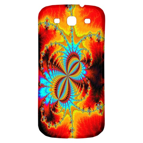 Crazy Mandelbrot Fractal Red Yellow Turquoise Samsung Galaxy S3 S III Classic Hardshell Back Case