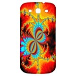 Crazy Mandelbrot Fractal Red Yellow Turquoise Samsung Galaxy S3 S III Classic Hardshell Back Case Front