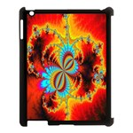 Crazy Mandelbrot Fractal Red Yellow Turquoise Apple iPad 3/4 Case (Black) Front