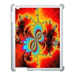 Crazy Mandelbrot Fractal Red Yellow Turquoise Apple iPad 3/4 Case (White) Front