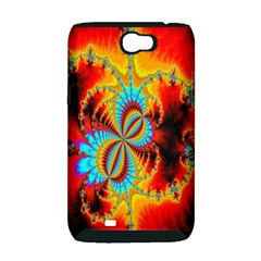 Crazy Mandelbrot Fractal Red Yellow Turquoise Samsung Galaxy Note 2 Hardshell Case (PC+Silicone)