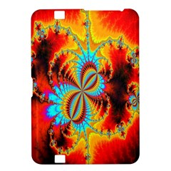 Crazy Mandelbrot Fractal Red Yellow Turquoise Kindle Fire HD 8.9
