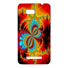 Crazy Mandelbrot Fractal Red Yellow Turquoise HTC One SU T528W Hardshell Case