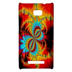 Crazy Mandelbrot Fractal Red Yellow Turquoise HTC 8X
