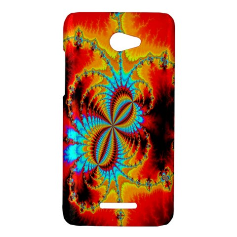 Crazy Mandelbrot Fractal Red Yellow Turquoise HTC Butterfly X920E Hardshell Case