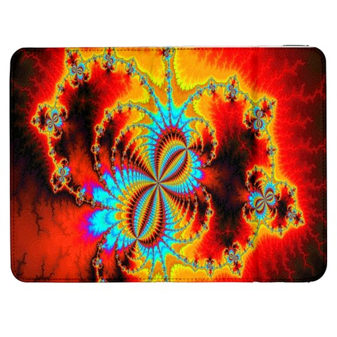 Crazy Mandelbrot Fractal Red Yellow Turquoise Samsung Galaxy Tab 7  P1000 Flip Case