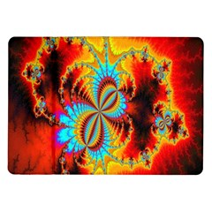 Crazy Mandelbrot Fractal Red Yellow Turquoise Samsung Galaxy Tab 10 1  P7500 Flip Case