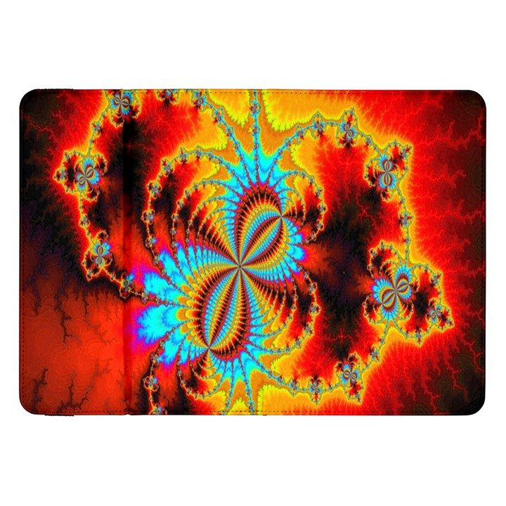 Crazy Mandelbrot Fractal Red Yellow Turquoise Samsung Galaxy Tab 8.9  P7300 Flip Case