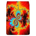 Crazy Mandelbrot Fractal Red Yellow Turquoise Flap Covers (L)  Front