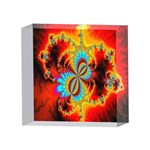 Crazy Mandelbrot Fractal Red Yellow Turquoise 4 x 4  Acrylic Photo Blocks Front