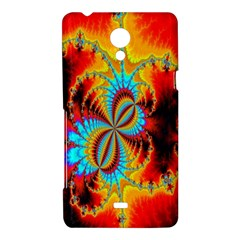 Crazy Mandelbrot Fractal Red Yellow Turquoise Sony Xperia T
