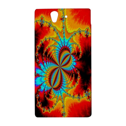 Crazy Mandelbrot Fractal Red Yellow Turquoise Sony Xperia Z
