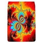 Crazy Mandelbrot Fractal Red Yellow Turquoise Flap Covers (S)  Front