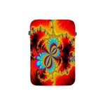 Crazy Mandelbrot Fractal Red Yellow Turquoise Apple iPad Mini Protective Soft Cases Front