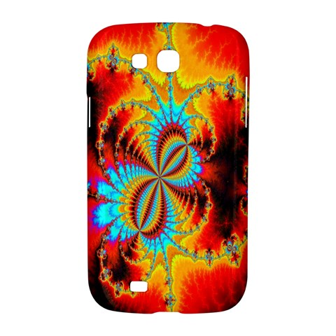 Crazy Mandelbrot Fractal Red Yellow Turquoise Samsung Galaxy Grand GT-I9128 Hardshell Case