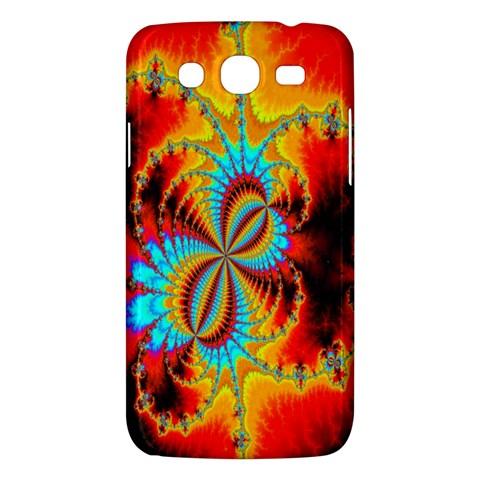 Crazy Mandelbrot Fractal Red Yellow Turquoise Samsung Galaxy Mega 5.8 I9152 Hardshell Case