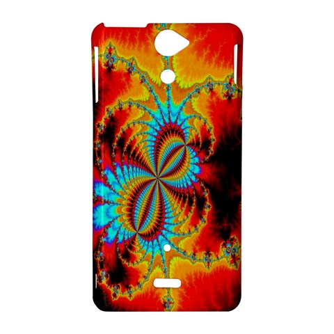 Crazy Mandelbrot Fractal Red Yellow Turquoise Sony Xperia V
