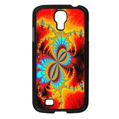 Crazy Mandelbrot Fractal Red Yellow Turquoise Samsung Galaxy S4 I9500/ I9505 Case (black)