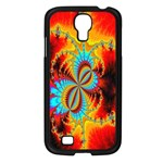 Crazy Mandelbrot Fractal Red Yellow Turquoise Samsung Galaxy S4 I9500/ I9505 Case (Black) Front