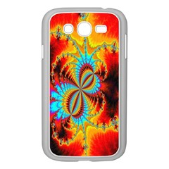 Crazy Mandelbrot Fractal Red Yellow Turquoise Samsung Galaxy Grand DUOS I9082 Case (White)