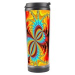 Crazy Mandelbrot Fractal Red Yellow Turquoise Travel Tumbler Center