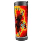 Crazy Mandelbrot Fractal Red Yellow Turquoise Travel Tumbler Right