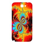 Crazy Mandelbrot Fractal Red Yellow Turquoise Samsung Note 2 N7100 Hardshell Back Case Front