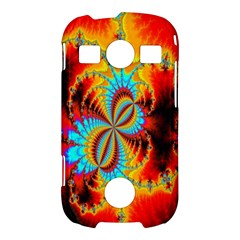 Crazy Mandelbrot Fractal Red Yellow Turquoise Samsung Galaxy S7710 Xcover 2 Hardshell Case