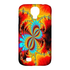 Crazy Mandelbrot Fractal Red Yellow Turquoise Samsung Galaxy S4 Classic Hardshell Case (PC+Silicone)