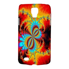 Crazy Mandelbrot Fractal Red Yellow Turquoise Galaxy S4 Active