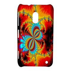 Crazy Mandelbrot Fractal Red Yellow Turquoise Nokia Lumia 620