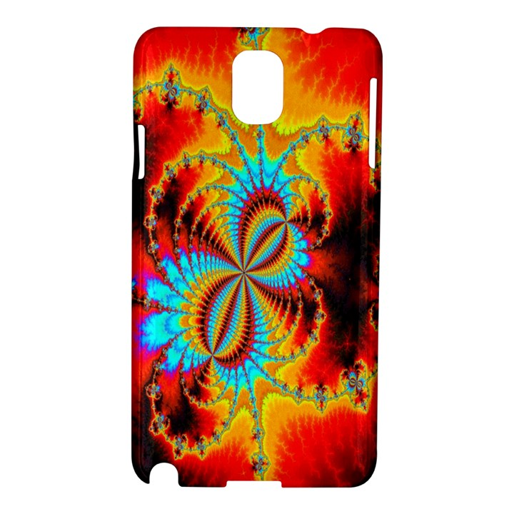 Crazy Mandelbrot Fractal Red Yellow Turquoise Samsung Galaxy Note 3 N9005 Hardshell Case