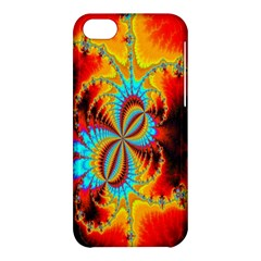 Crazy Mandelbrot Fractal Red Yellow Turquoise Apple iPhone 5C Hardshell Case