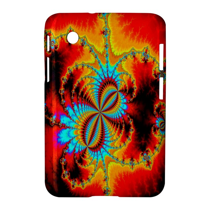 Crazy Mandelbrot Fractal Red Yellow Turquoise Samsung Galaxy Tab 2 (7 ) P3100 Hardshell Case