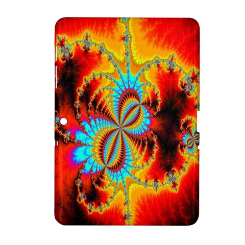 Crazy Mandelbrot Fractal Red Yellow Turquoise Samsung Galaxy Tab 2 (10.1 ) P5100 Hardshell Case