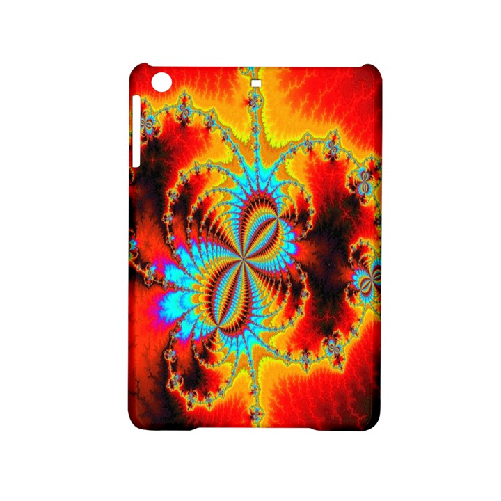 Crazy Mandelbrot Fractal Red Yellow Turquoise iPad Mini 2 Hardshell Cases
