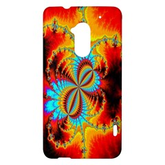 Crazy Mandelbrot Fractal Red Yellow Turquoise HTC One Max (T6) Hardshell Case