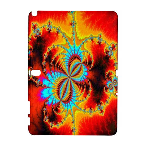 Crazy Mandelbrot Fractal Red Yellow Turquoise Samsung Galaxy Note 10.1 (P600) Hardshell Case
