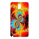 Crazy Mandelbrot Fractal Red Yellow Turquoise Samsung Galaxy Note 3 N9005 Hardshell Back Case Front