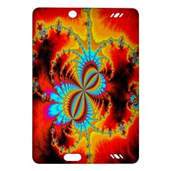 Crazy Mandelbrot Fractal Red Yellow Turquoise Amazon Kindle Fire HD (2013) Hardshell Case