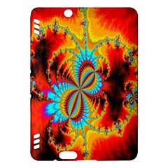 Crazy Mandelbrot Fractal Red Yellow Turquoise Kindle Fire HDX Hardshell Case