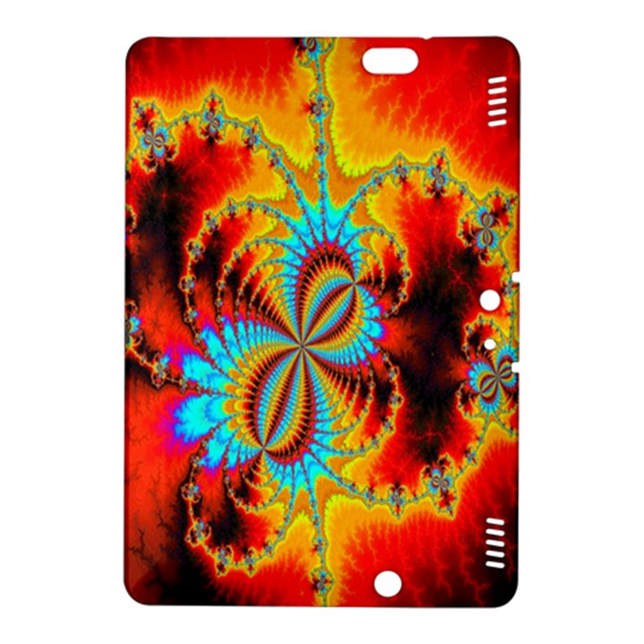 Crazy Mandelbrot Fractal Red Yellow Turquoise Kindle Fire HDX 8.9  Hardshell Case