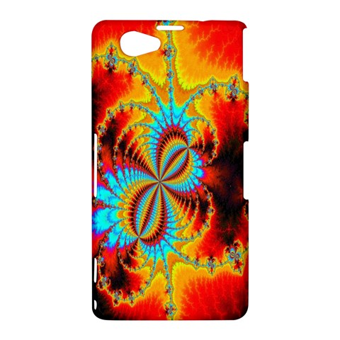 Crazy Mandelbrot Fractal Red Yellow Turquoise Sony Xperia Z1 Compact