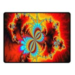 Crazy Mandelbrot Fractal Red Yellow Turquoise Double Sided Fleece Blanket (Small)  50 x40 Blanket Back
