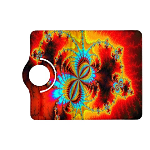 Crazy Mandelbrot Fractal Red Yellow Turquoise Kindle Fire HD (2013) Flip 360 Case