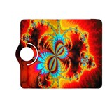 Crazy Mandelbrot Fractal Red Yellow Turquoise Kindle Fire HDX 8.9  Flip 360 Case Front